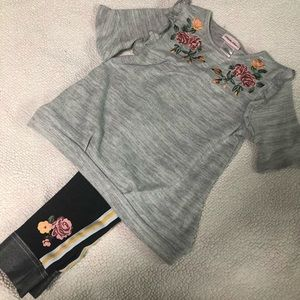 Little Lass Girl Set Size 5 Jeans & Top outfit